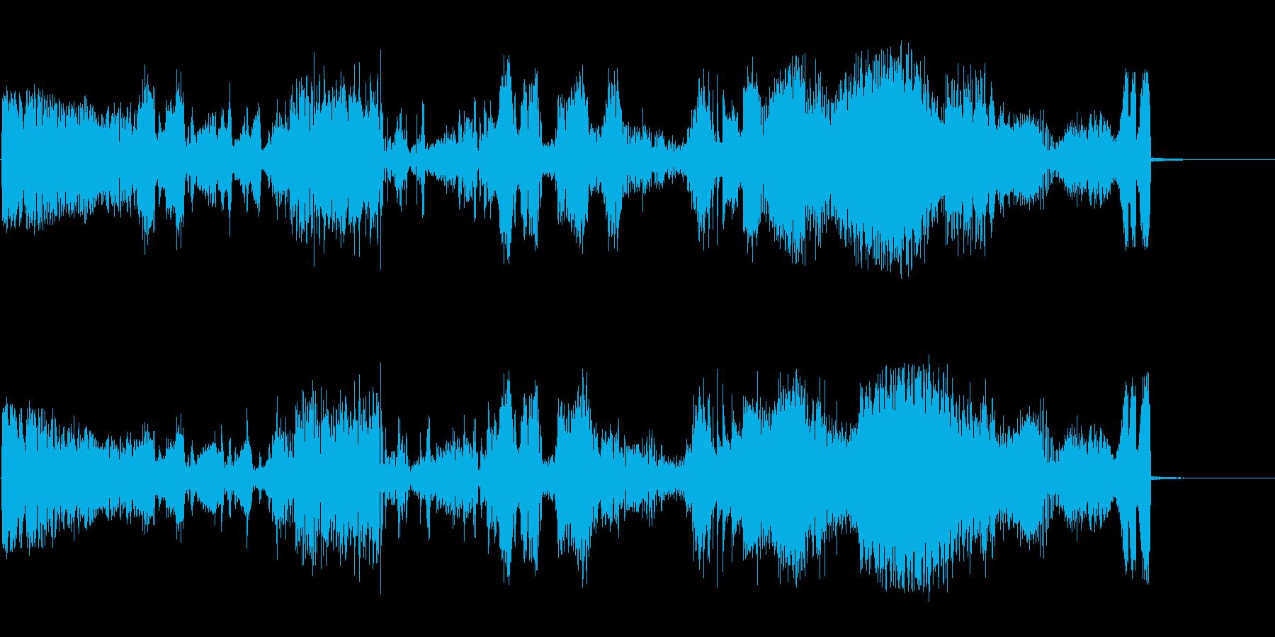 余波の再生済みの波形