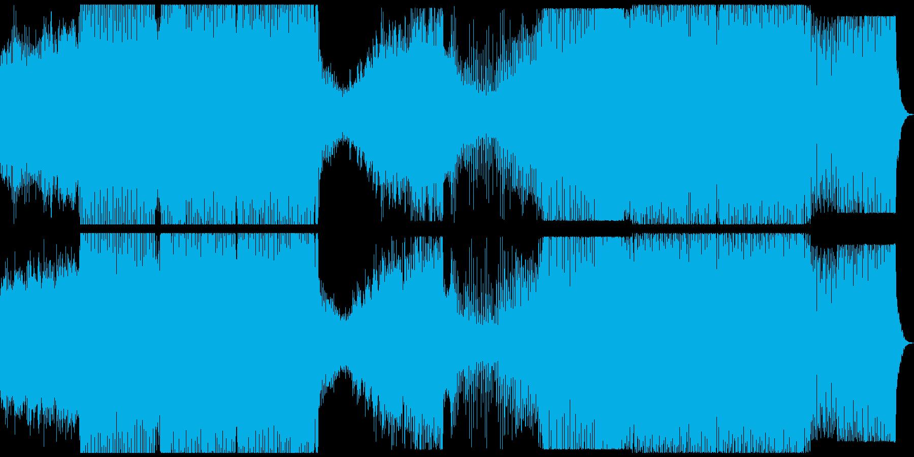 明るく穏やかな青い海を表現した曲の再生済みの波形