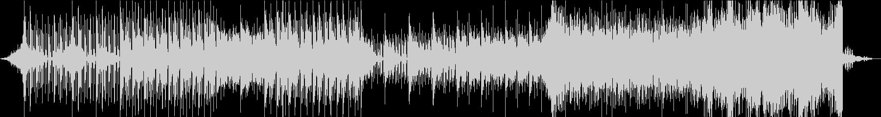 歪んだ空気感を表現したエレクトロニカの未再生の波形