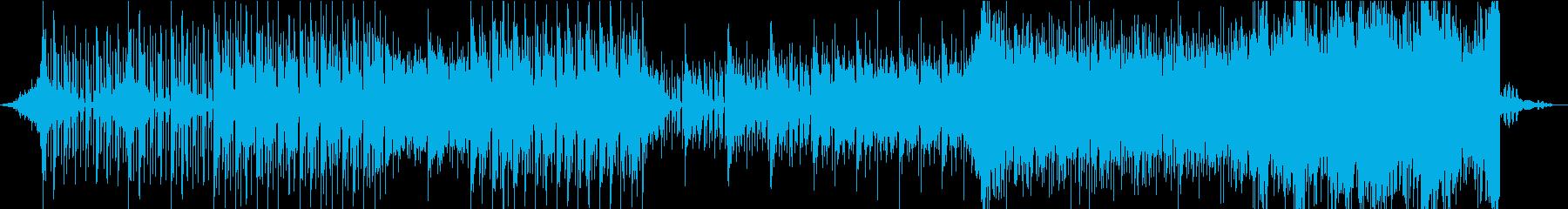 歪んだ空気感を表現したエレクトロニカの再生済みの波形