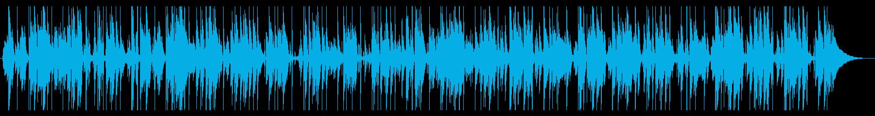 お洒落でクールなジャズピアノポップの再生済みの波形