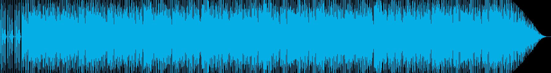 ギターのメインの踊りたくなるテクノポップの再生済みの波形