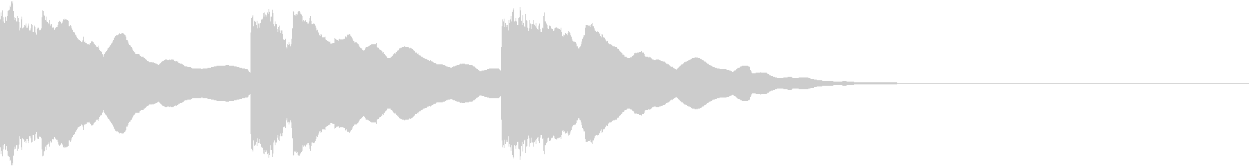潜水艦の中のような電子音2(3発)の未再生の波形