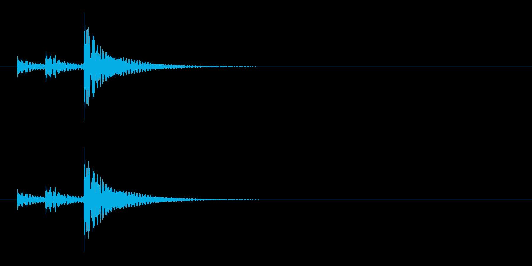 和太鼓の締太鼓の単発音の再生済みの波形