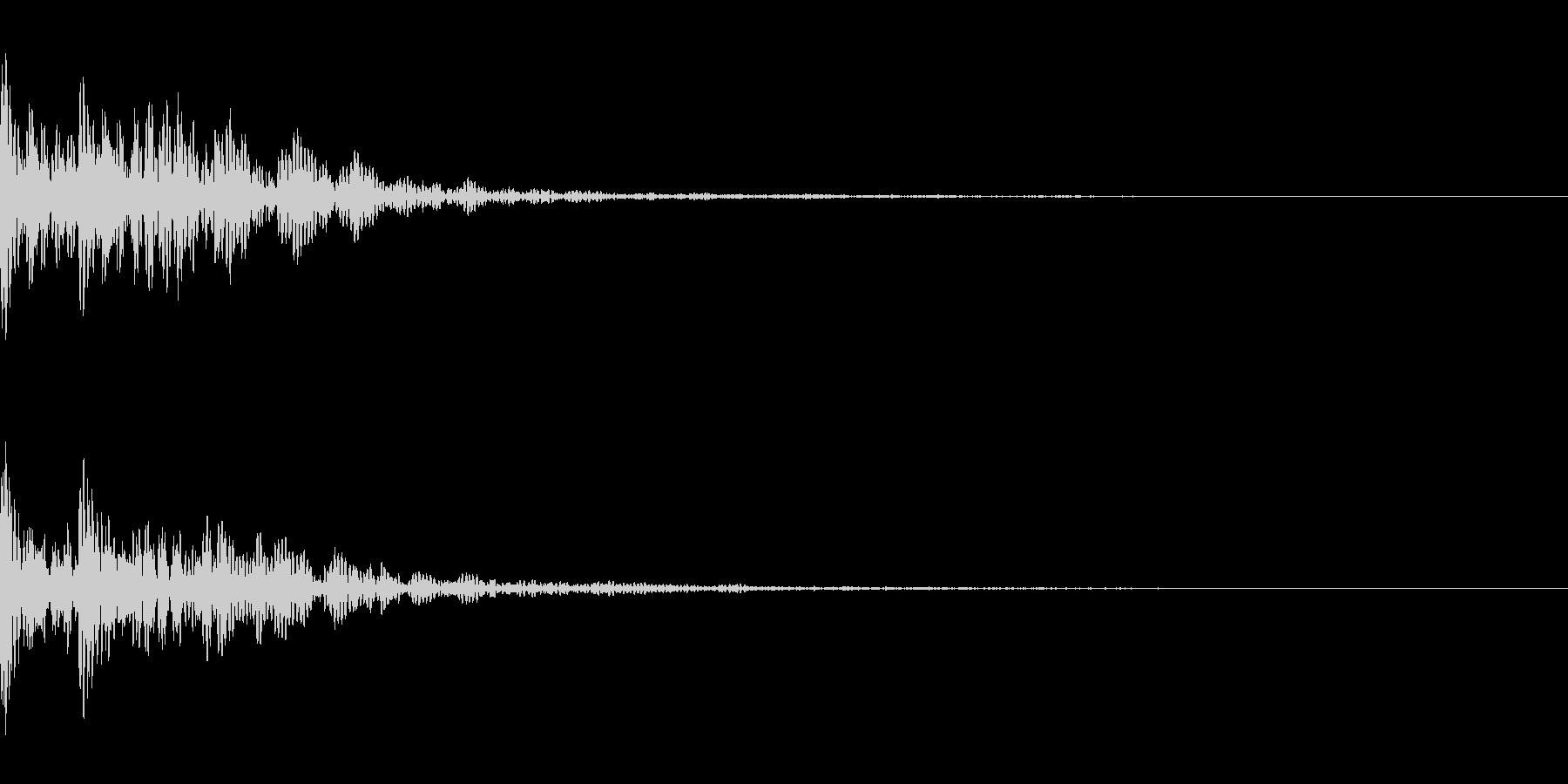 太鼓と拍子木。「ドドン」の未再生の波形