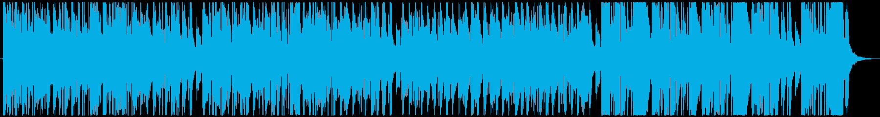 軽快で元気溢れるメロディーの再生済みの波形