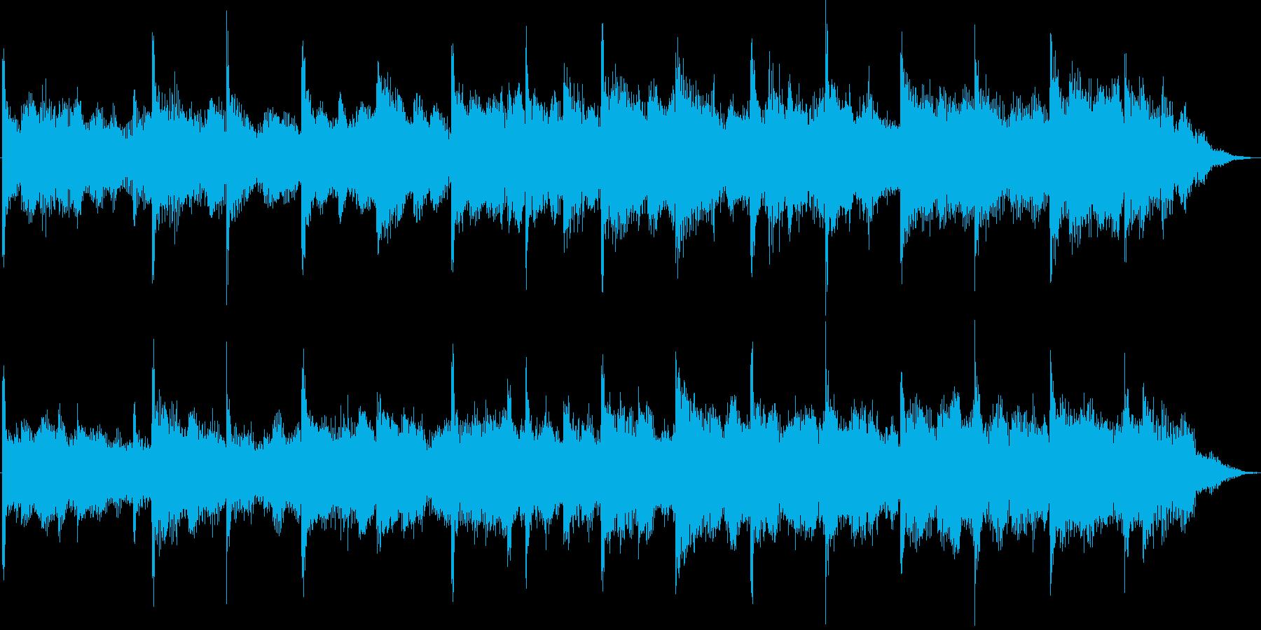 ゆったりとした印象のポップジングルの再生済みの波形