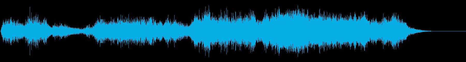 ハロウィン系ジングル ホラーな雰囲気の再生済みの波形