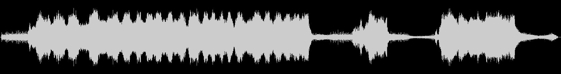 大型ガスチェーンソー:開始、大型の...の未再生の波形