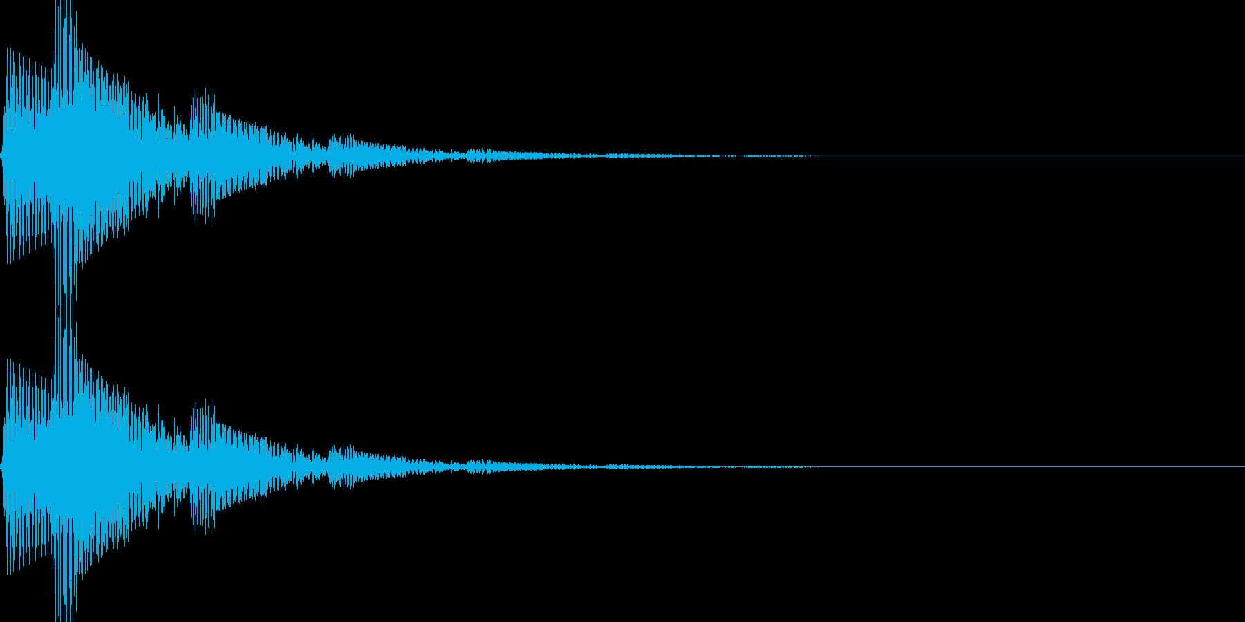 ボタン押下や決定音_ピロロン!の再生済みの波形