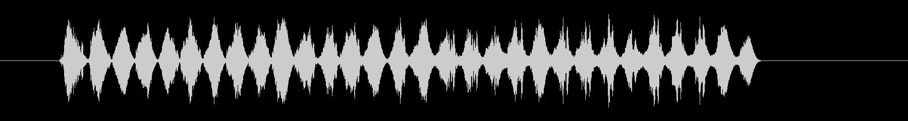 テロップSE グラフ ジリジリの未再生の波形