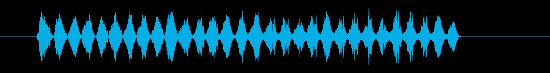 テロップSE グラフ ジリジリの再生済みの波形