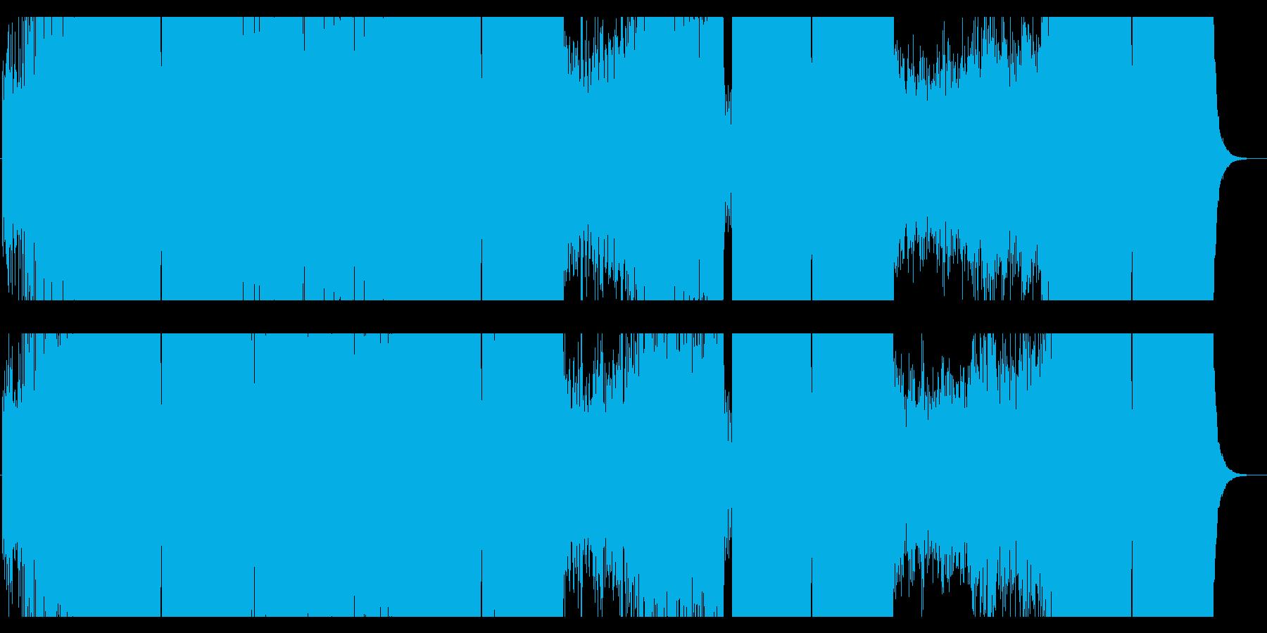 現代的で開放感のあるドラムンベースの再生済みの波形