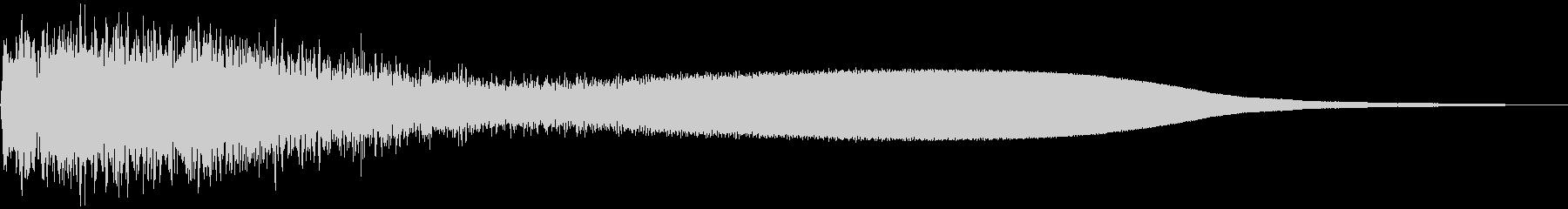 【ダーク・ホラー】重い銅鑼の音 ボワーンの未再生の波形