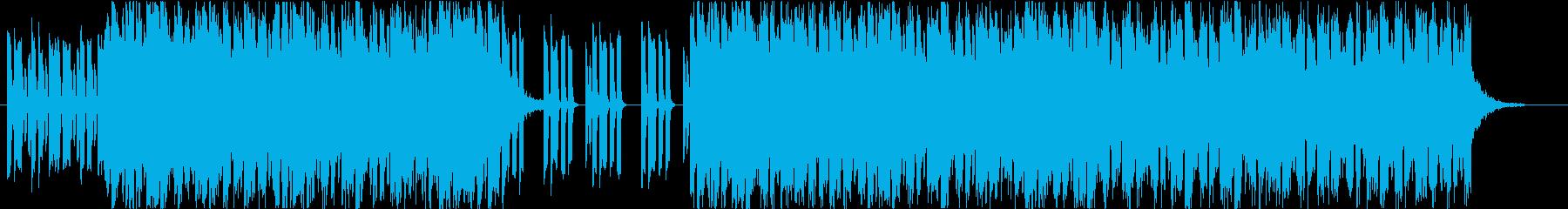 緊張感のあるプログレ風BGMの再生済みの波形