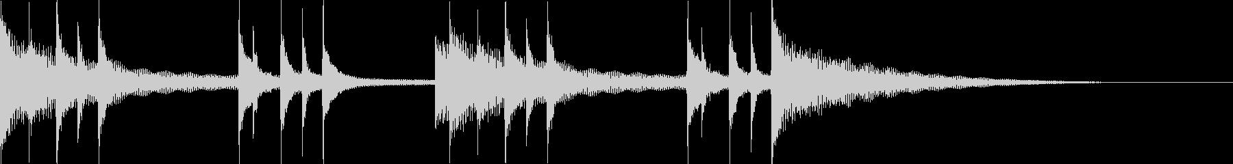 和風 サウンドロゴ 三味線+和太鼓+鼓の未再生の波形