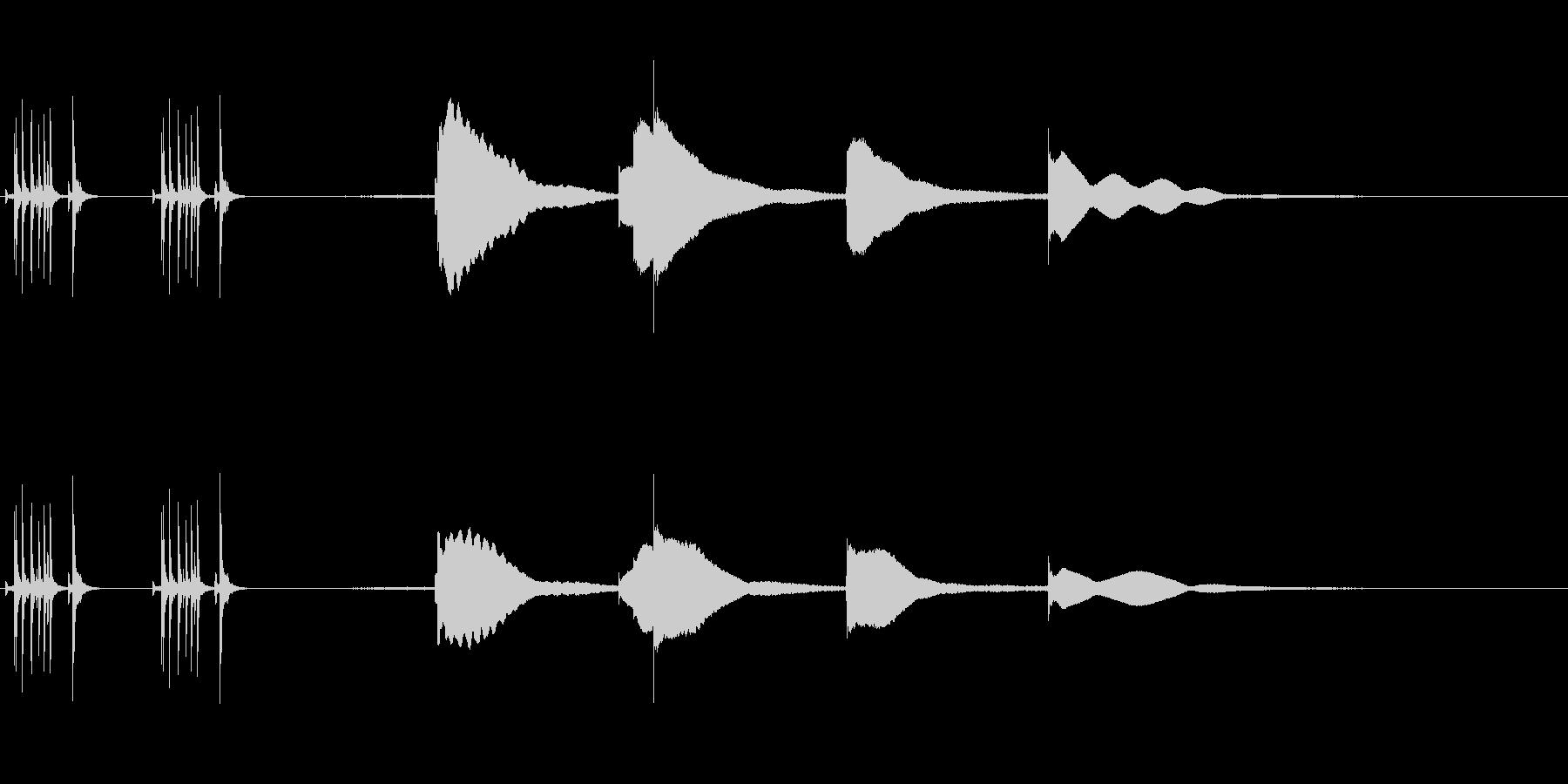 ジングル用オルゴール楽曲07-1の未再生の波形