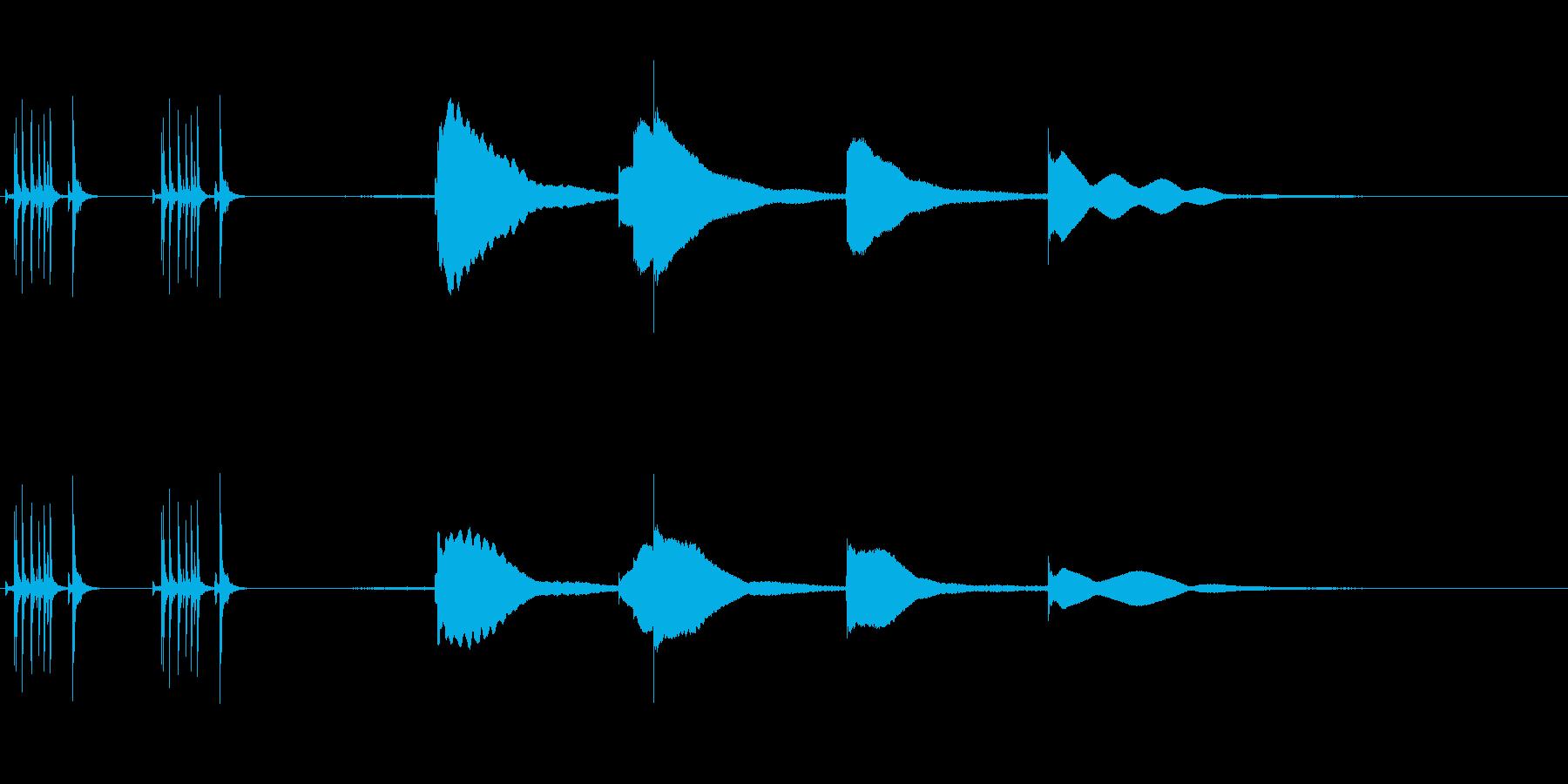 ジングル用オルゴール楽曲07-1の再生済みの波形