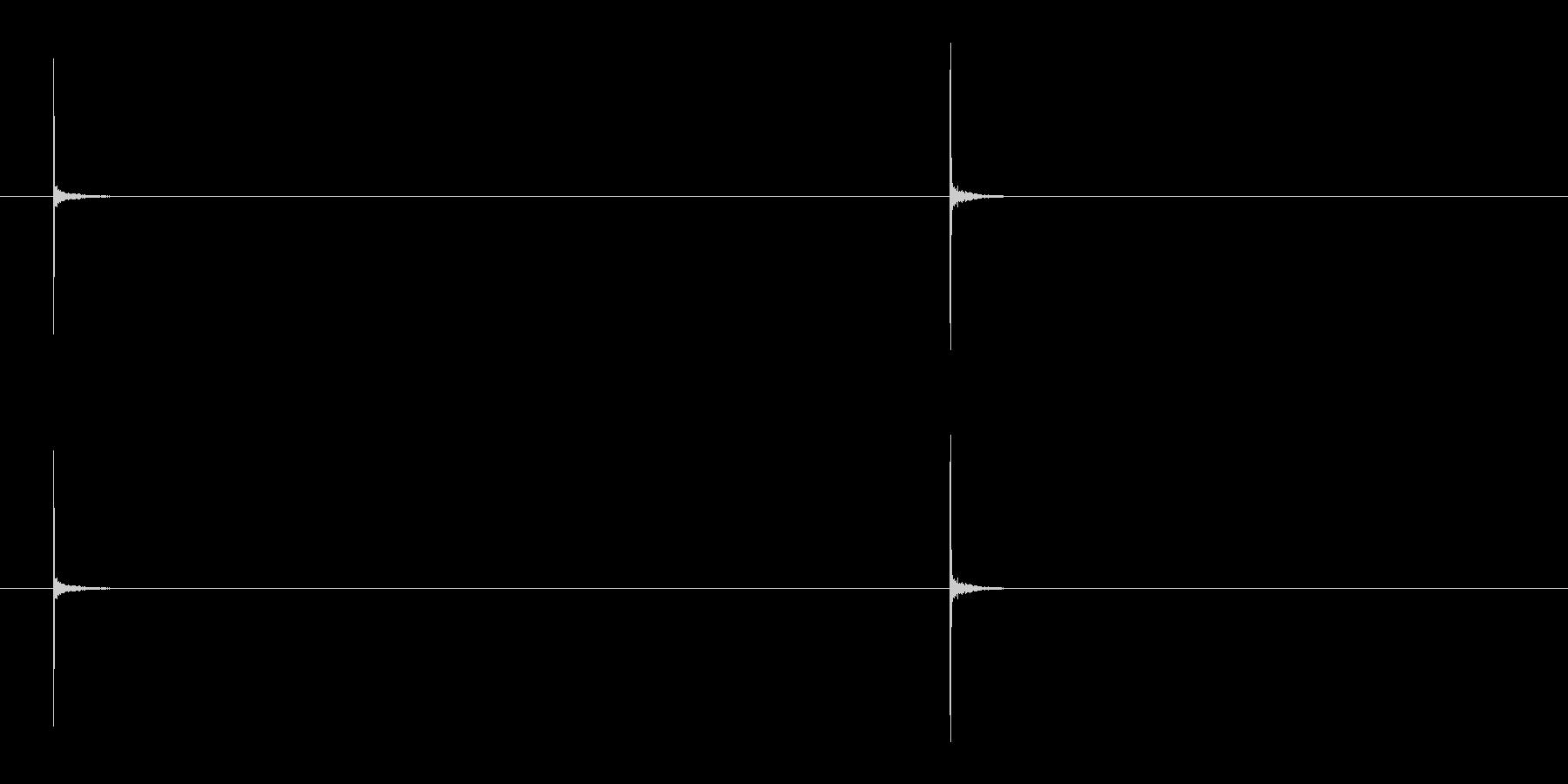 ペンチで線を切る音/カチッの未再生の波形
