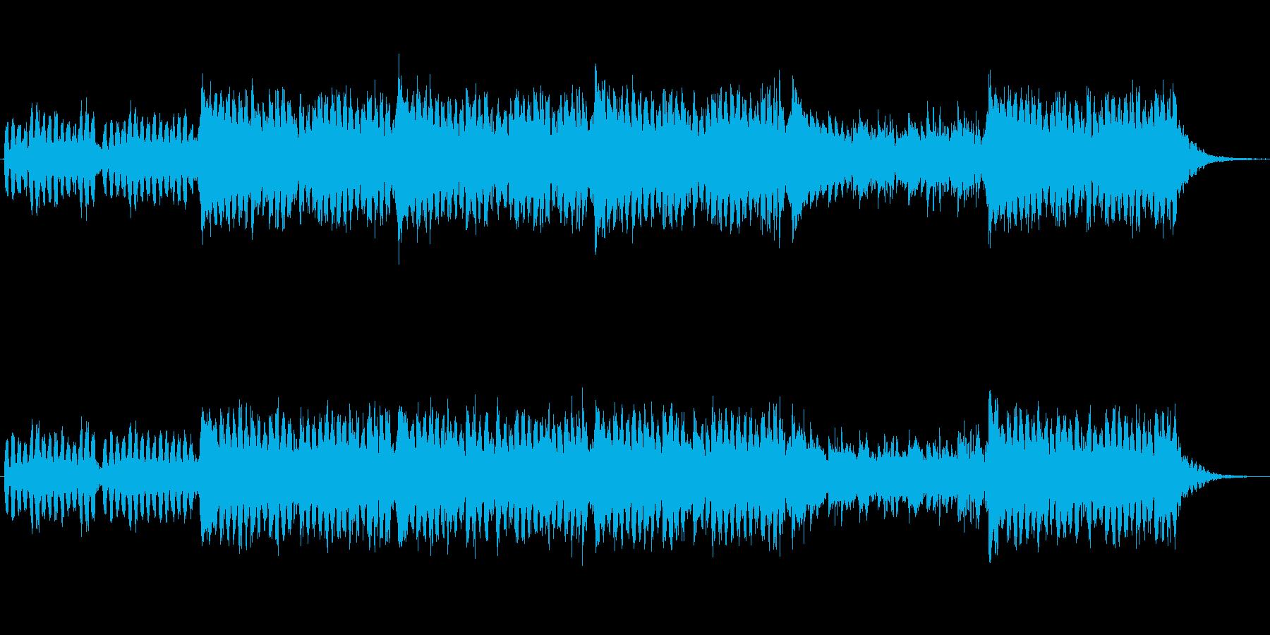 キラキラしたミニマル風のジングルですの再生済みの波形
