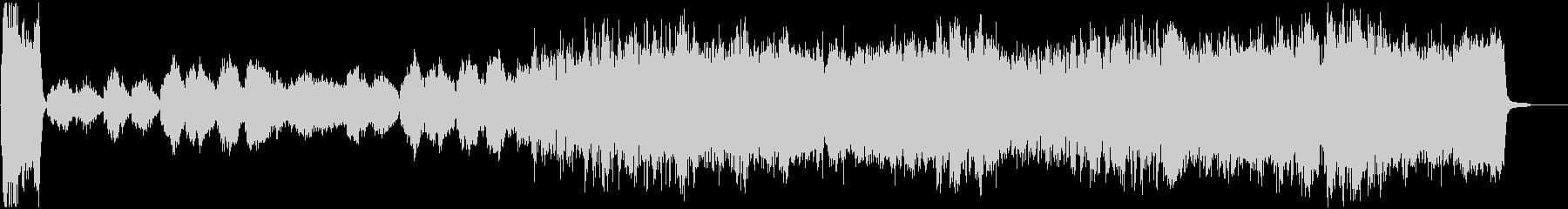 オーケストラ使用のオープニング曲の未再生の波形