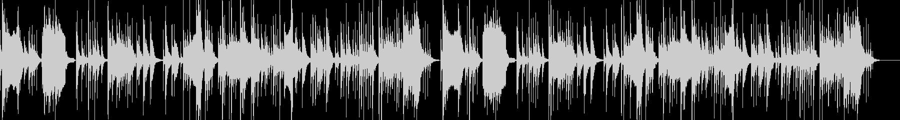 和風 お琴の調べと篠笛と鼓のBGMの未再生の波形