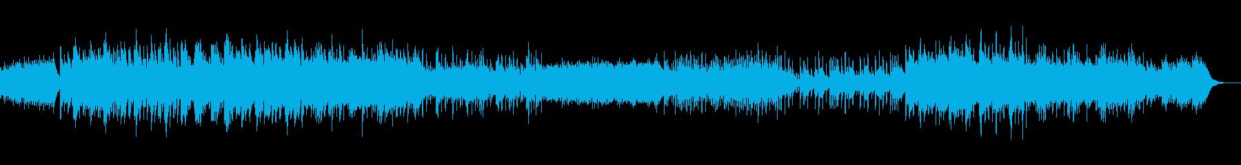 暗いゆっくりなピアノの再生済みの波形