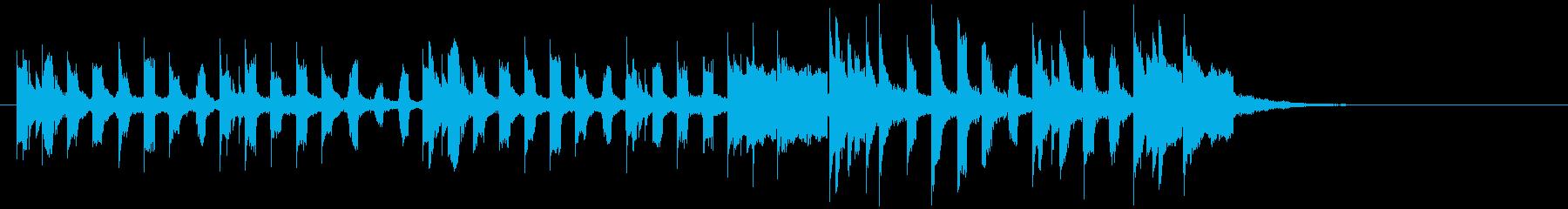 うきうき弾む楽しい鉄琴の再生済みの波形