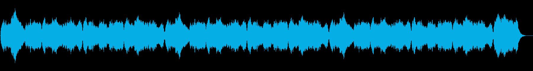 賛美歌「いつくしみ深き」パイプオルガンの再生済みの波形