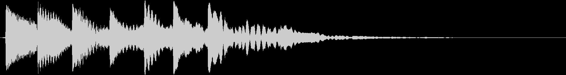 レベルアップの未再生の波形