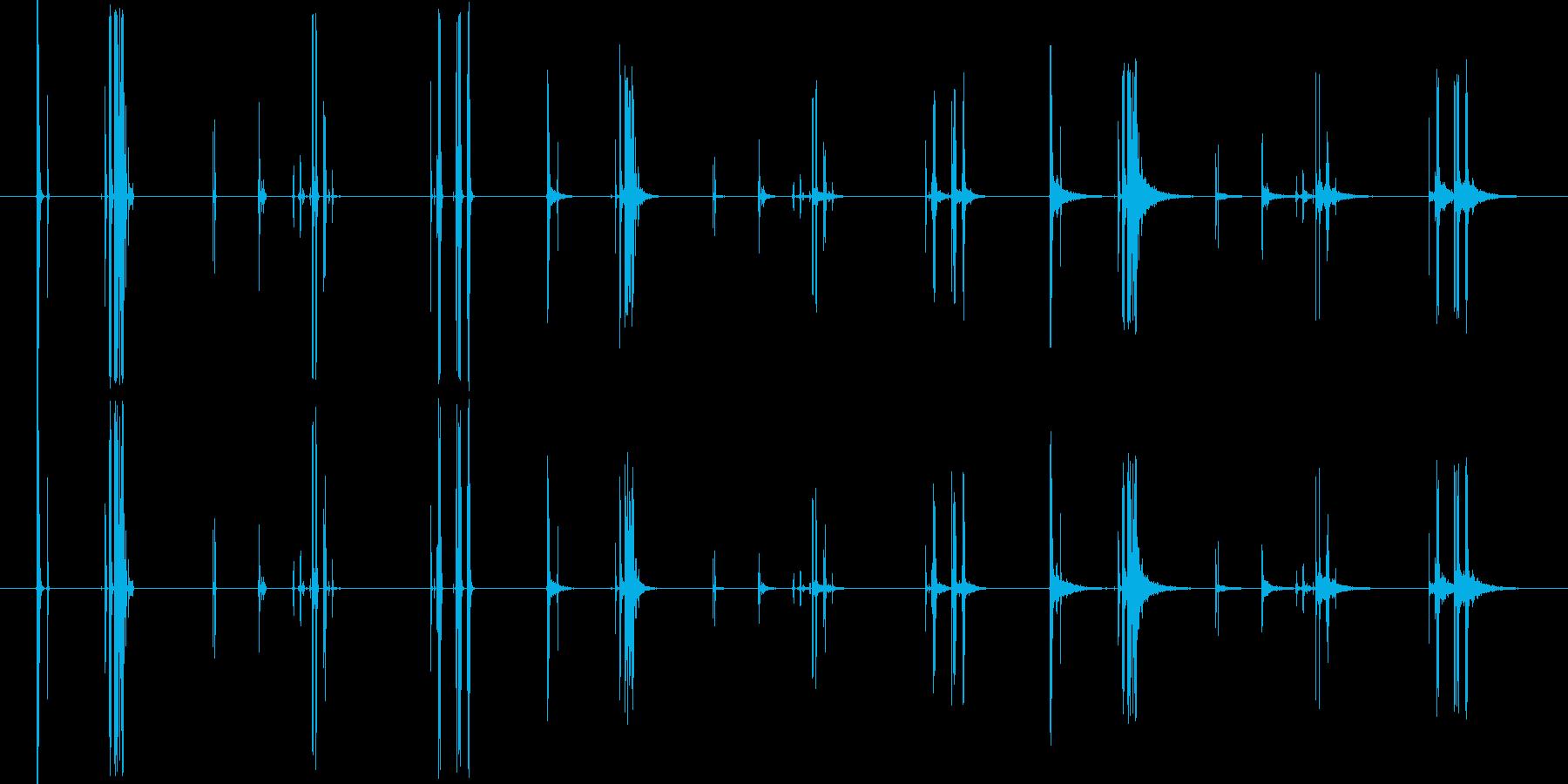 プラスチックテープレコーダー、取り...の再生済みの波形