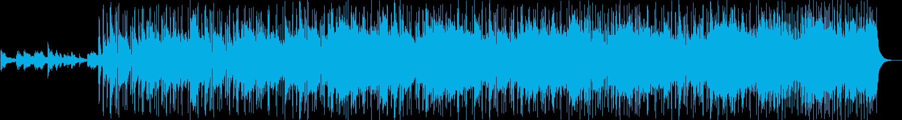 ゆったりとした穏やかなバラードの再生済みの波形