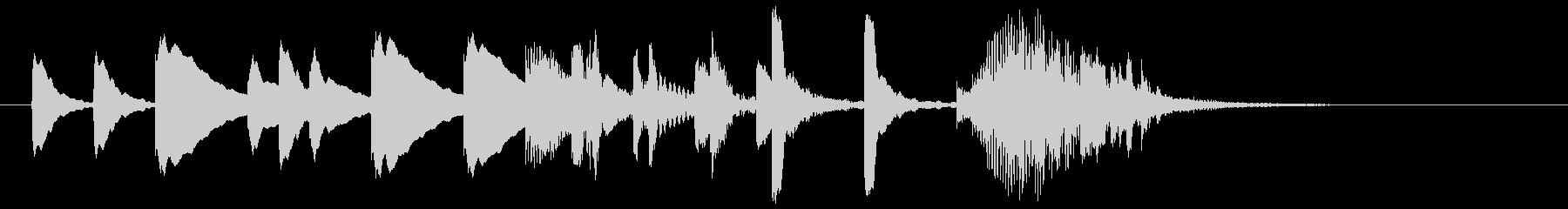 マリンバによるかわいいサウンドロゴの未再生の波形