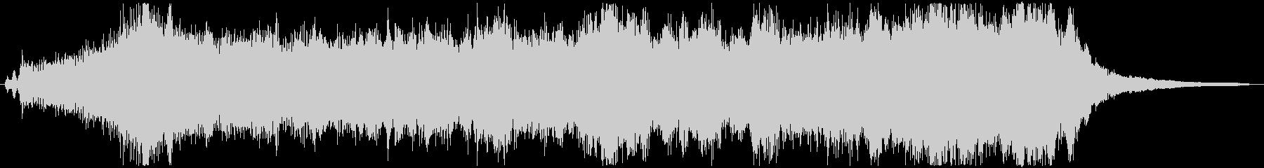 明るく希望的なオーケストラジングル_Bの未再生の波形