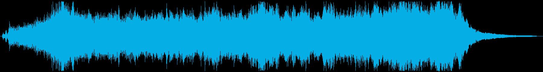 明るく希望的なオーケストラジングル_Bの再生済みの波形