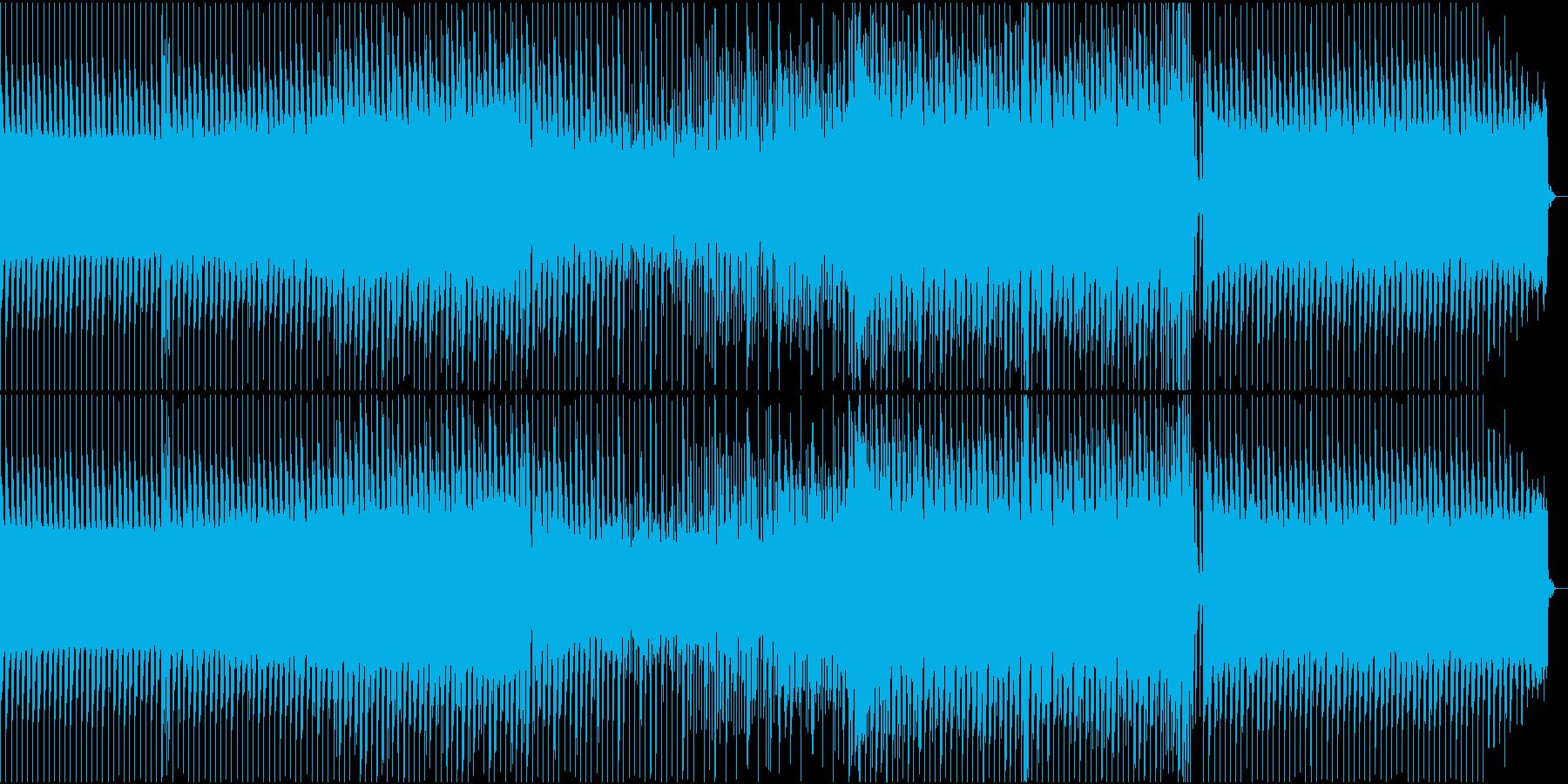 スタイリッシュなテクノトラックの再生済みの波形