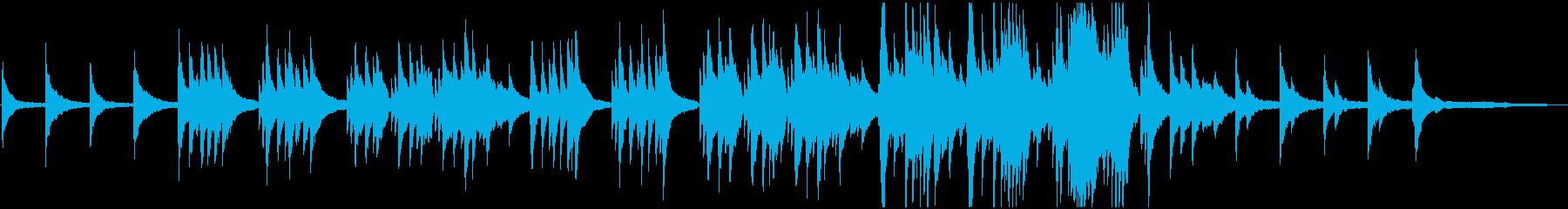 叙情的でノスタルジックなピアノソロの再生済みの波形