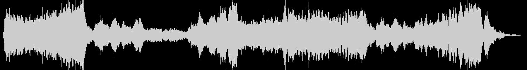 華やか厳かなオーケストラファンファーレの未再生の波形