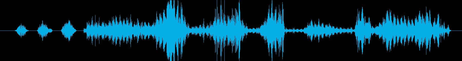 イメージ クレイジートーク07の再生済みの波形