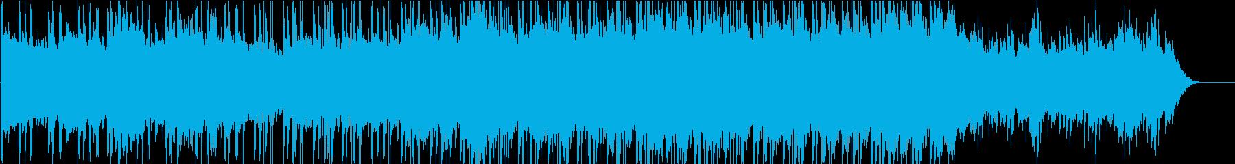 空撮映像など。クール、重厚、幻想的BGMの再生済みの波形