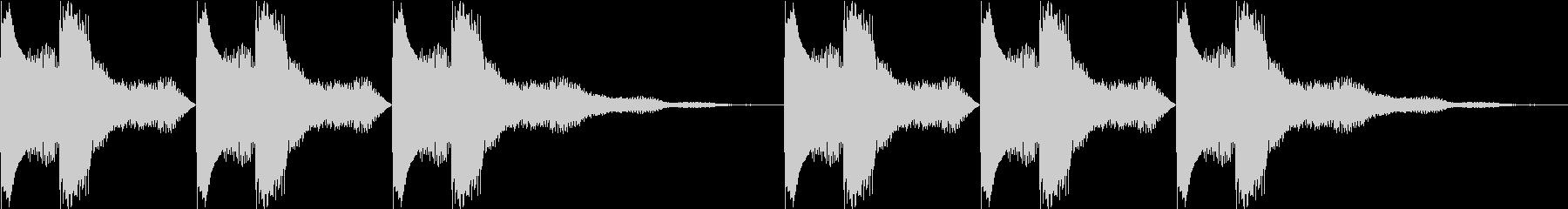 綺麗な着信音ループの未再生の波形