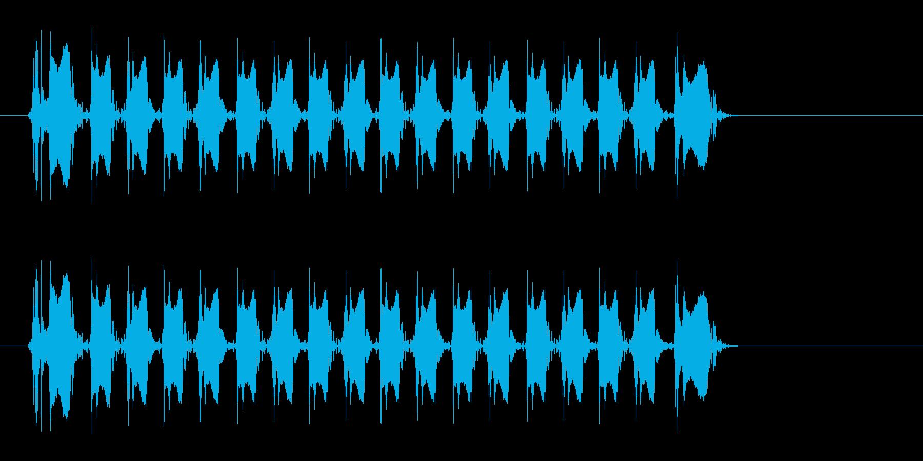 レーザー音-151-3の再生済みの波形