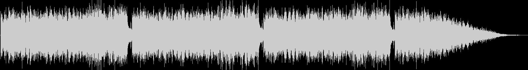 神聖な場面などで流れるピアノ曲の未再生の波形