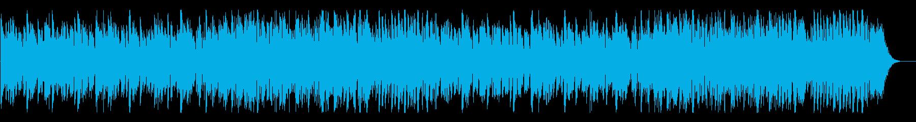 のんびりとした安らぎのBGMの再生済みの波形