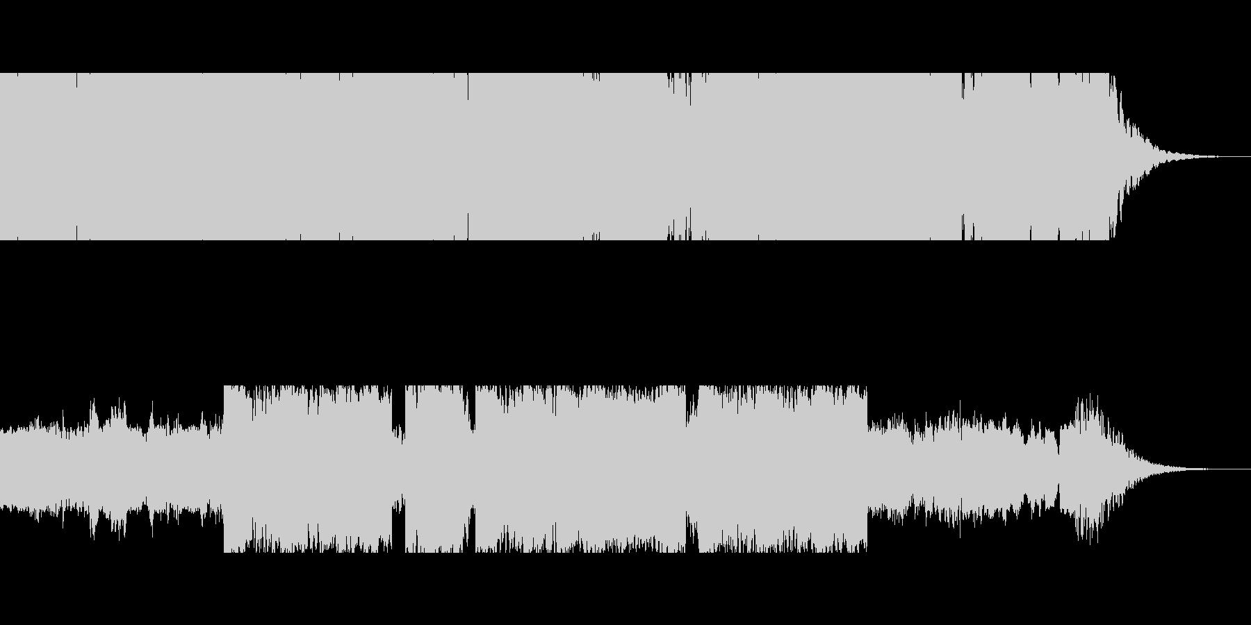 ジングル 懐かしい 村 笛 ロゴ の未再生の波形