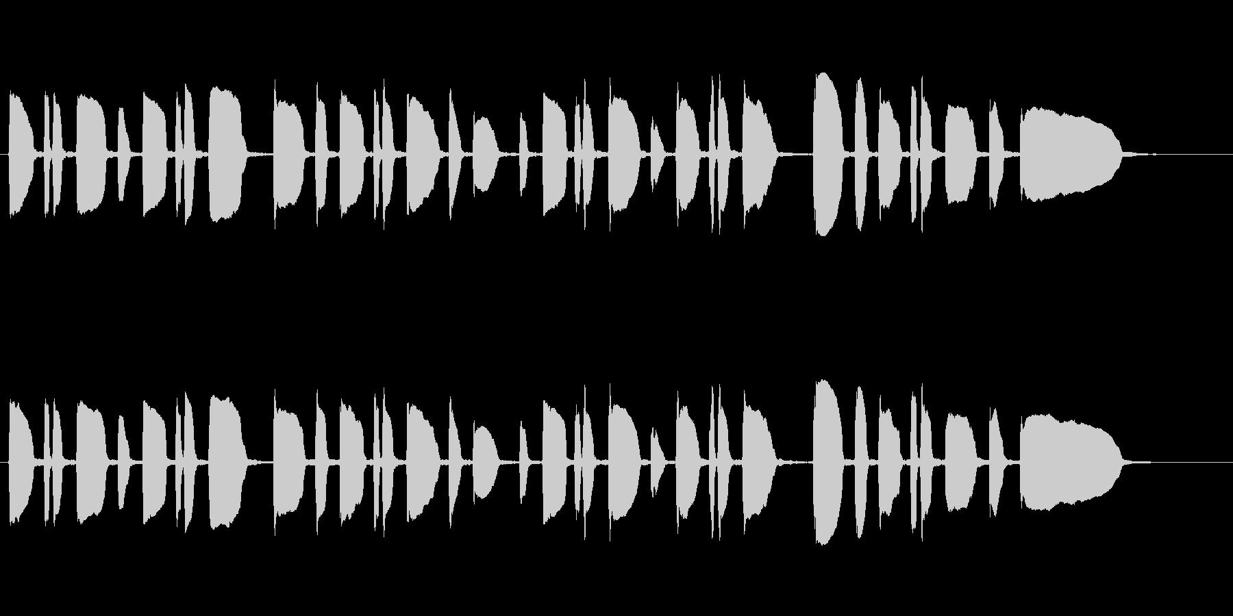 トランペット独奏のサウンドロゴの未再生の波形