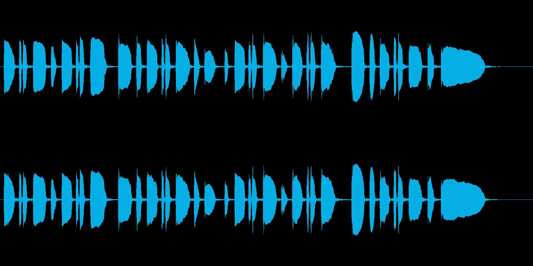 トランペット独奏のサウンドロゴの再生済みの波形