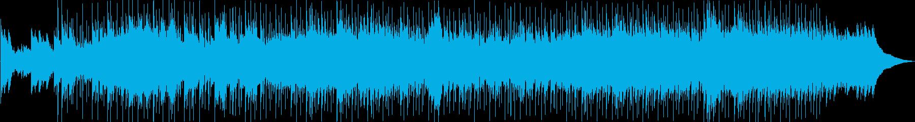 ピアノのメロディー、流れるようなオ...の再生済みの波形