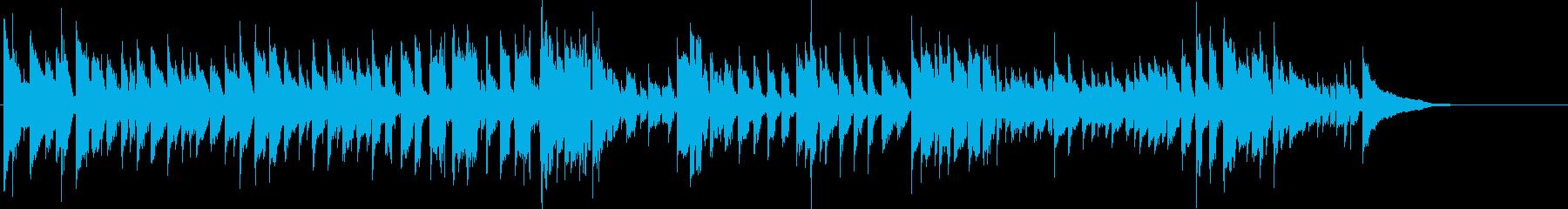 ギターのカントリーミュージックの再生済みの波形