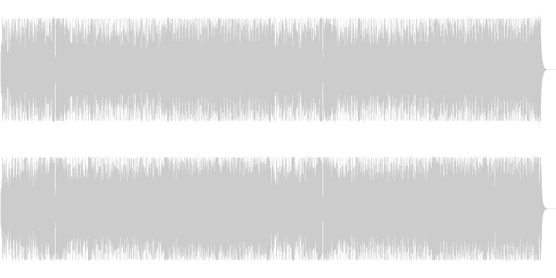 のびやかな明るいポップなBGMの未再生の波形
